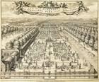 plan van het schoone perk van sorgvliet, by 's gravenhage (+ 3 others; set of 4) by johannes van den aveelen