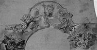 christus erscheint als weltenrichter (sketch for a ceiling painting) by gottfried bernhard goetz