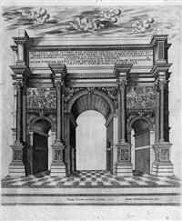 der triumphbogen des septimius severus (+ 4 others; 5 works from speculum romanae magnificentiae) by antonio lafreri