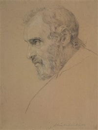 bildnis eines mannes mit bart im profil by johann joachim faber