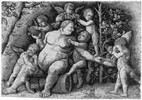 silenus (after mantegna) by hieronymus hopfer