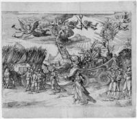 festwagen mit einer allegorie des sieges by monogrammist kg