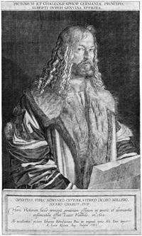 bildnis albrecht dürers (after johann rottenhammer) by lukas kilian