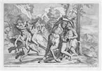 der kentaur chiron lehrt achilles das spiel auf der leier (after pietro testa) by giovanni cesare testa