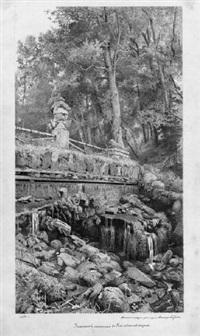 die ruinencascade im park von pavlovsk by viktor alekseevich bobrov