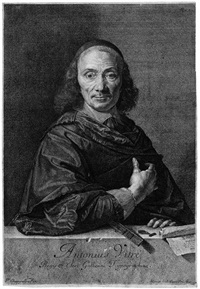 portrait des typographen antonius vitré (after philippe de champaigne) by jean morin