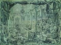 absalom läßt seinen bruder amnon an der tafel ermorden by vitus felix rigl