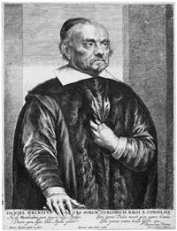 daniel heinsius, bildnis des leidener professors in halbfigur im pelzmantel by jan lievens