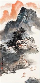青山叠翠图 (chinese painting & calligraphy) by luo buzhen