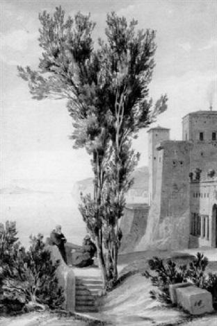 tassos villa in sorrent by august wilhelm julius ahlborn