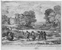 die landschaft mit der allegorie der zeit, apollo und den vier jahreszeiten by claude lorrain