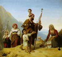 pilgerzuge in den italienischen bergen by eduard daege
