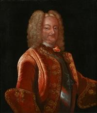 brustportrait eines herren mit ordenskreuz aus der familie von türkheim by johann baptist zierl