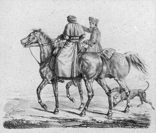 acht blätter pferde und hunde geätzt von franz krüger 8 works by franz krüger