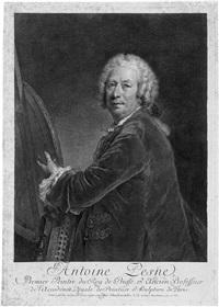 selbstbildnis des preußischen hofmalers antoine pesne by georg friedrich schmidt