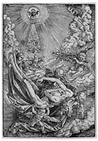 der leichnam christi von engeln zum himmel getragen by hans baldung grien