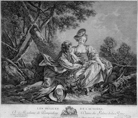 les délices de lautomne after françois boucher by jean daulle