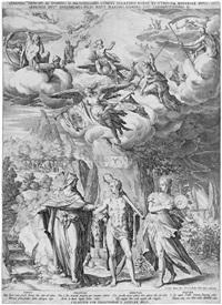 prinz maximilian von bayern als herkules (after friedrich sustris) by jan sadeler i