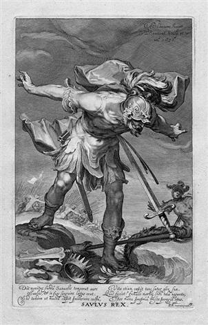 die folge der sünder aus dem alten und neuen testament petrus paulus zachaeus saulus rex judas ischariot 5 works after abraham bloemaert by willem isaaksz swanenburgh the elder