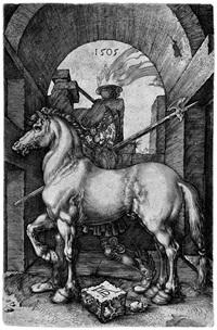 das kleine pferd (after dürer) by hieronymus wierix