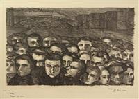 fabrieksarbeiders (revolutionaire menigte) by charley toorop