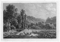 partien aus der umgebung von dresden und ruinen bei rom (portfolio of 12 w/foreword & index, 8vo) by johann philipp veith