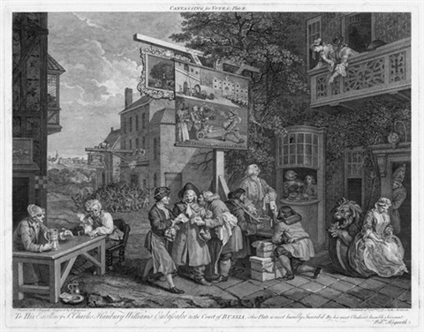four prints of an election 4 works by william hogarth