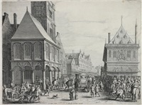 abschied von marie de medici vor dem rathaus in amsterdam by salomon savery
