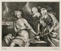 susanna und die beiden alten (afer g. reni) by cornelis visscher