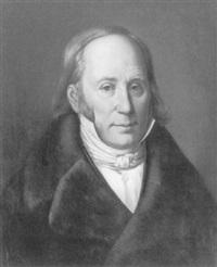 brustbildnis eines herren im schwarzen mantel mit pelzkragen by carl fielgraf