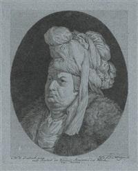 bildnis eines herren mit turban (after dietricy, collab. w/f. conrad krüger) by johann conrad kruger