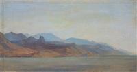 calabrien, die küste vom meer aus gesehen by fredrich theodor kloss