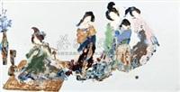 高温色釉《汉唐气象6》瓷板 (a plaque) by you cuiqing