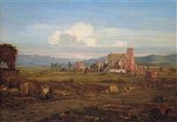 campagnalandschaft in der nähe von rom by franz nadorp