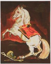 the sparkly splendid lippanzanner at the battle of austerlitz by karen kilimnik