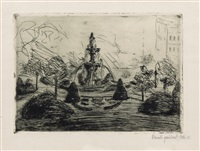brunnenplatz by emil nolde