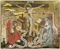 die hll. gregor und hieronymus mit christus am kreuz by anonymous-german (15)