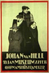 johan van hell. 16 jan. 22 feb. museum coopmanshûs franeker (poster) by johan van hell