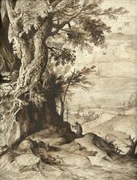 landschaft mit dem hl. hieronymus bei einem baum by paul bril
