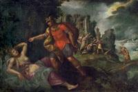 die geschichte von apollo und koronis: tod der koronis und die errettung des asklepios durch merkur by paolo fiammingo dei franceschi