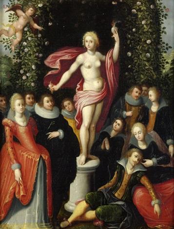 venus allegorie der keuschen liebe bacchus allegorie der fruchtbarkeit 2 works by louis de caullery