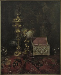 orientalist still life by ludwig augustin