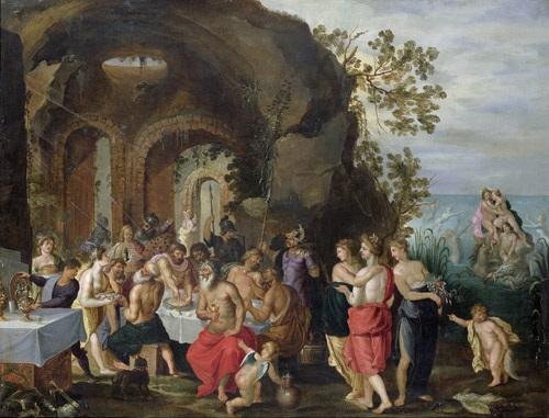 göttermahl die hochzeit von peleus und thetis by willem van herp the elder