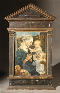 madonna with christ child and angel by filippo (filippino) lippi