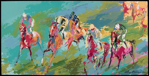 the horse race by leroy neiman