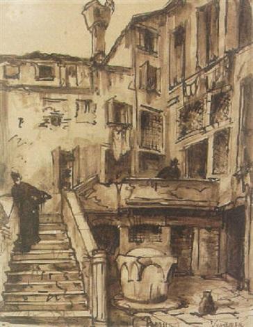 A Courtyard Venice By Emile Bernard On Artnet