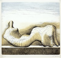 reclinging figure by henry moore