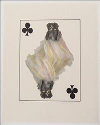 royal flush: clubs from souvenir playing cards series (5 works) by william wegman