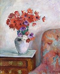 fleurs dans un vase by henri lebasque
