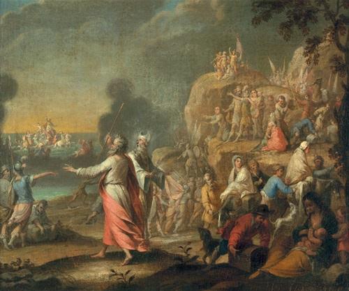 der zug der ägypter durch das rote meer by anonymous flemish 17
